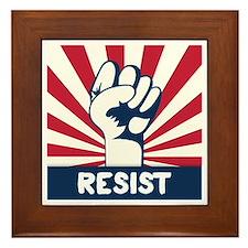 RESIST Fist Framed Tile