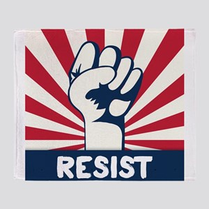 RESIST Fist Throw Blanket