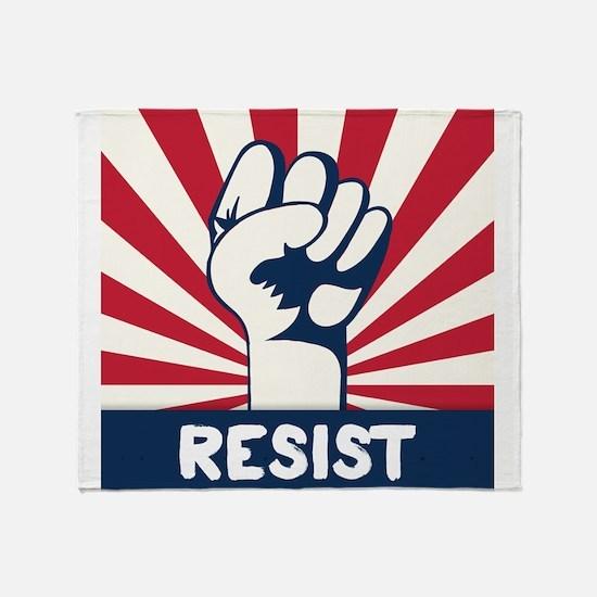 RESIST Fist Throw Blanket