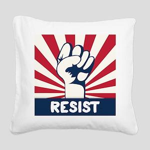 RESIST Fist Square Canvas Pillow
