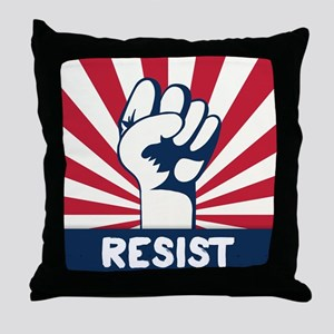 RESIST Fist Throw Pillow