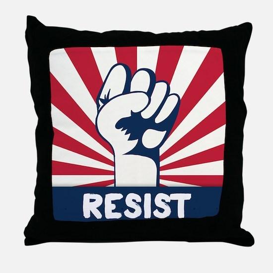 RESIST Fist Throw Pillow