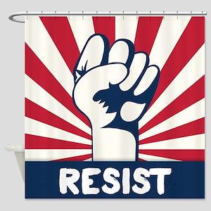 RESIST Fist Shower Curtain