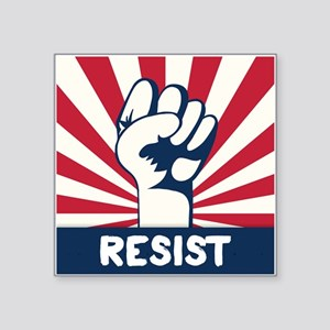 "RESIST Fist Square Sticker 3"" x 3"""