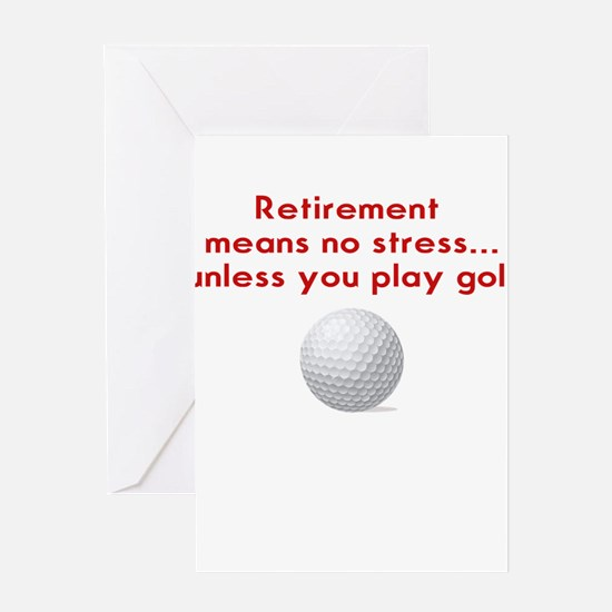 Golf in retirement Greeting Cards