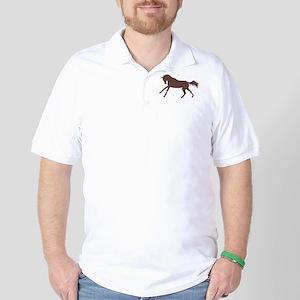 brown galloping horse Golf Shirt
