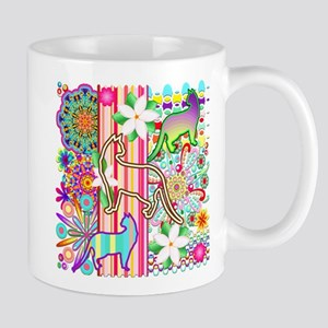 Mandalas, Cats & Flowers Fantasy Pattern Mugs
