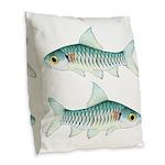 Congo Barb Burlap Throw Pillow