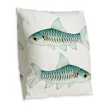 Congo Barb Burlap Throw Pillow