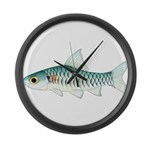 Congo Barb Large Wall Clock