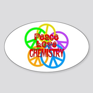 Peace Love Chemistry Sticker (Oval)