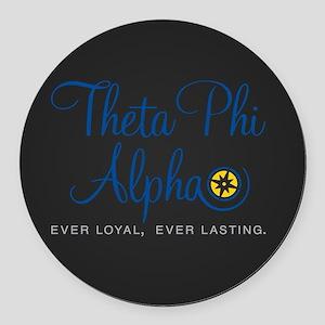 Theta Phi Alpha Logo Round Car Magnet
