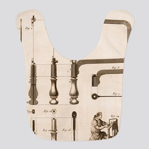 Coping Saw Engraving Polyester Baby Bib