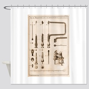 Coping Saw Engraving Shower Curtain