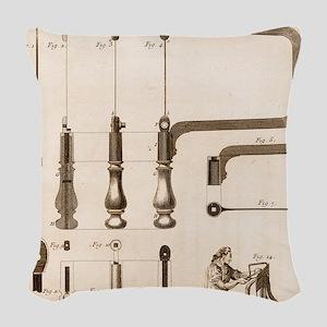 Coping Saw Engraving Woven Throw Pillow