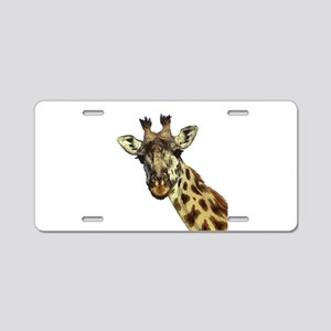 GIRAFFE Aluminum License Plate