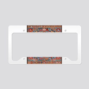 Buddhist Mandala License Plate Holder