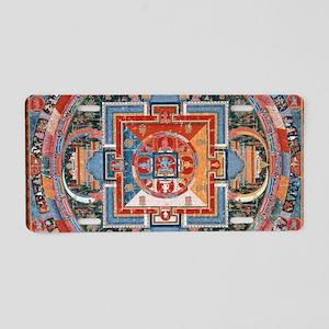 Buddhist Mandala Aluminum License Plate