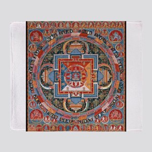 Buddhist Mandala Throw Blanket