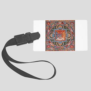 Buddhist Mandala Luggage Tag