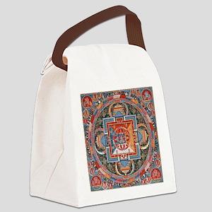 Buddhist Mandala Canvas Lunch Bag