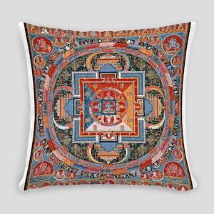 Buddhist Mandala Everyday Pillow