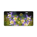 Colorado Blue Columbine Aluminum License Plate