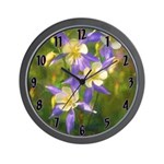 Colorado Blue Columbine Wall Clock