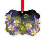 Colorado Blue Columbine Picture Ornament