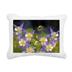 Colorado Blue Columbine Rectangular Canvas Pillow