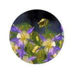 Colorado Blue Columbine Button