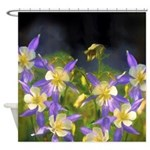 Colorado Blue Columbine Shower Curtain