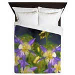 Colorado Blue Columbine Queen Duvet