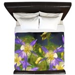 Colorado Blue Columbine King Duvet
