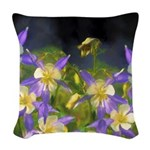 Colorado Blue Columbine Woven Throw Pillow