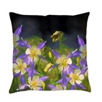 Colorado Blue Columbine Everyday Pillow