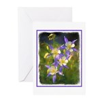 Colorado Blue Columbine Greeting Cards (Pk of 20)