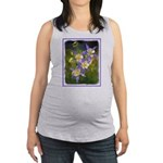 Colorado Blue Columbine Maternity Tank Top