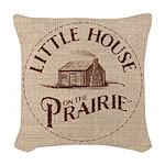 Little House On The Prairie Woven Throw Pillow