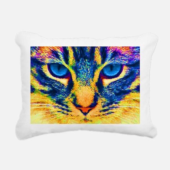 Funny Cat eyes Rectangular Canvas Pillow