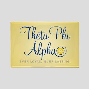 Theta Phi Alpha Logo Rectangle Magnet
