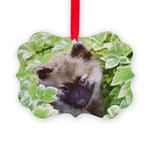 Keeshond Puppy Picture Ornament