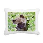 Keeshond Puppy Rectangular Canvas Pillow