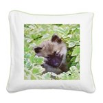 Keeshond Puppy Square Canvas Pillow