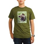 Keeshond Puppy Organic Men's T-Shirt (dark)