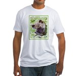 Keeshond Puppy Fitted T-Shirt
