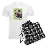 Keeshond Puppy Men's Light Pajamas