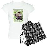 Keeshond Puppy Women's Light Pajamas
