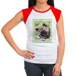 Keeshond Puppy Junior's Cap Sleeve T-Shirt