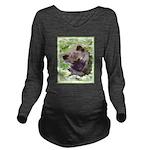 Keeshond Puppy Long Sleeve Maternity T-Shirt